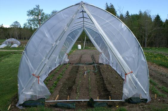 How to build a greenhouse or hoop house for Gothic greenhouse plans